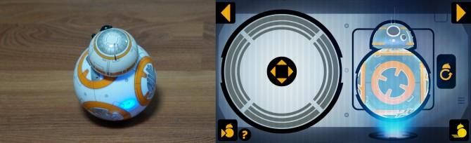 BB-8을 조종하기 위해선 먼저 BB-8에게 사용자의 방향을 인식시켜야 한다. BB-8의 하체에서 빛나는 푸른 점을 어플리케이션을 이용해 사용자에게 향하도록 하면 된다. - 이우상 기자 idol@donga.com, Sphero BB-8 어플리케이션 작동 중 캡처 제공